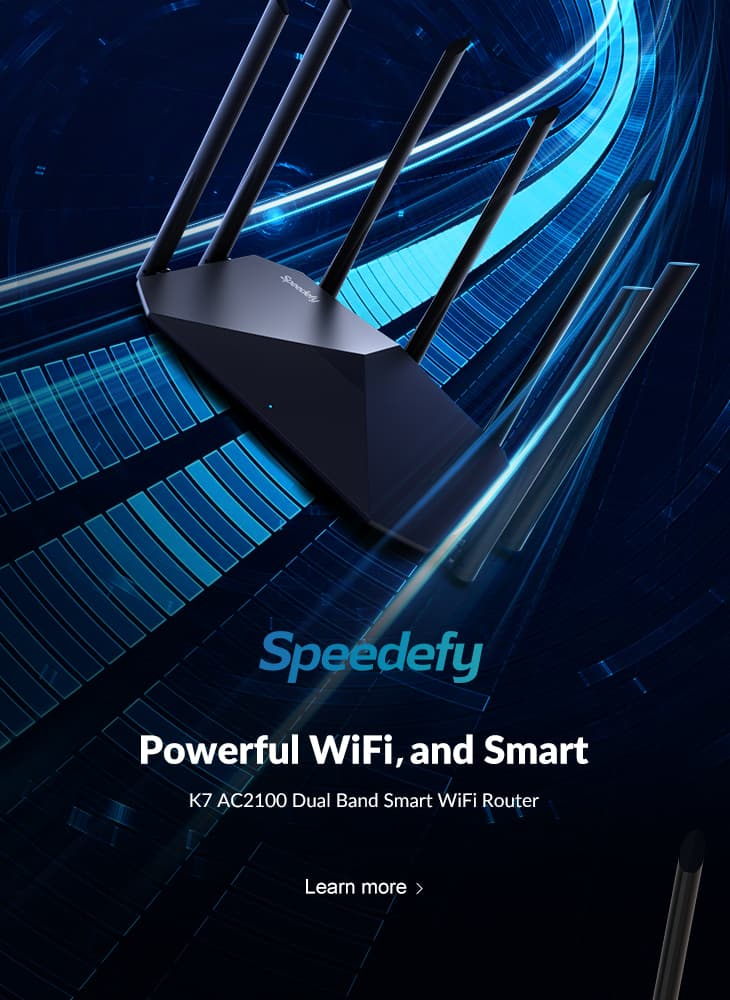 speedefy k7 wifi router headline banner mobile page