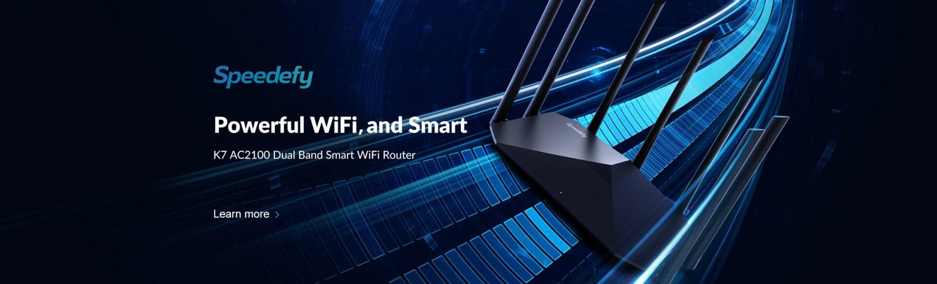 speedefy k7 wifi router headline banner