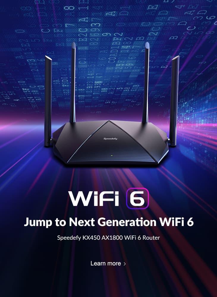 speedefy kx450 wifi 6 router headline banner mobile page