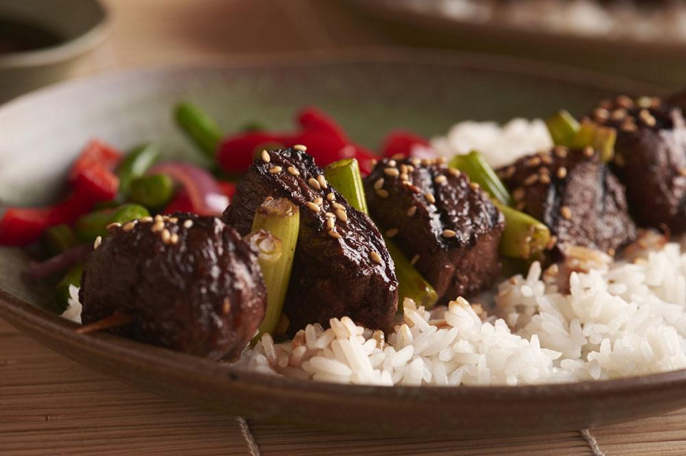 bison-steak-medallions-asian-kebabs-image