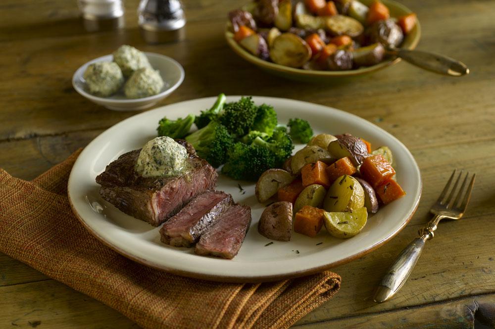 Great Range Pan Seared Bison Strip Loin Steak