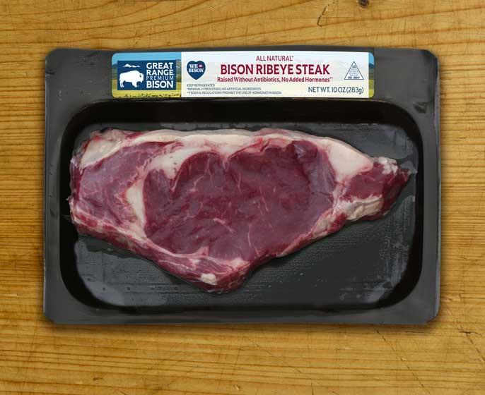 Great Range Bison Ribeye Steak