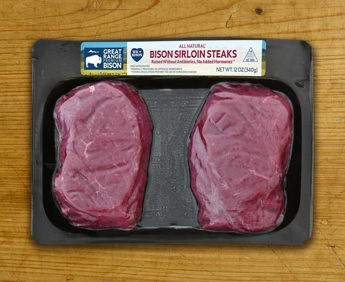 Great Range Bison Sirloin Steaks