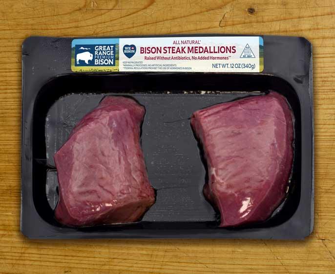 Great Range Bison Steak Medallions