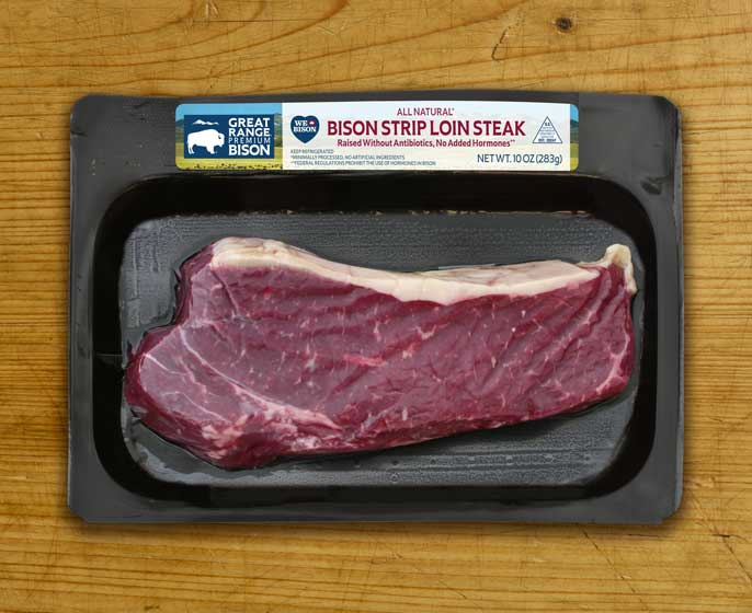 Great Range Bison Strip Loin Steak