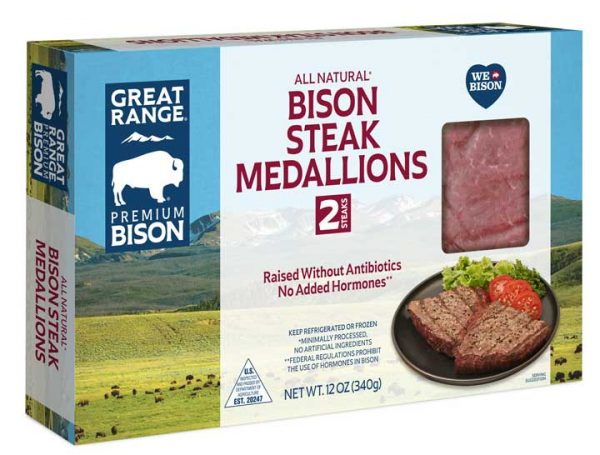Bison Steak Medallions Box