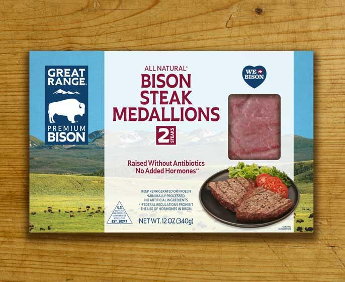 Bison Steak Medallions Box