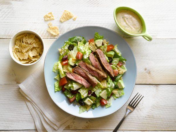 Southwest Grilled Bison Ribeye Steak salad