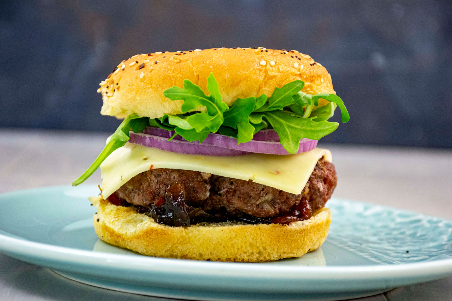 Bison Burger with Bacon Jam