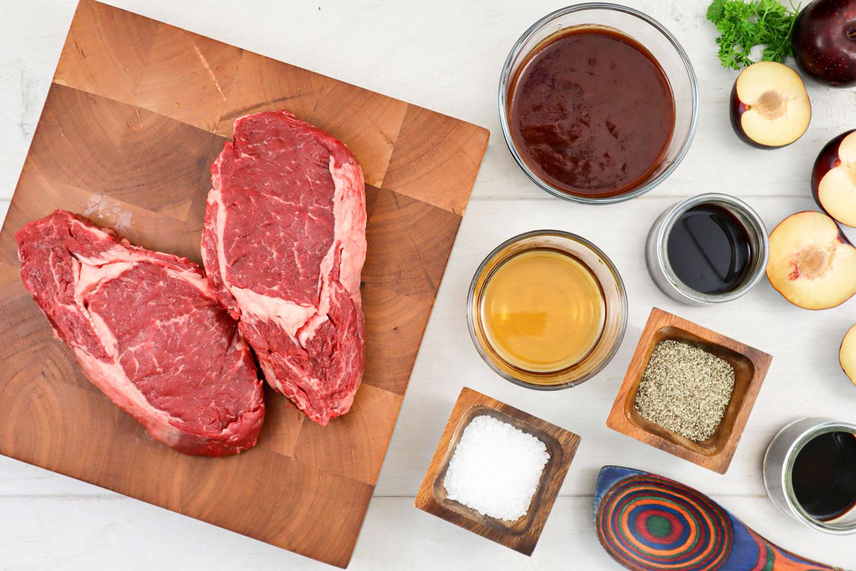 Plum Glazed Ribeye Steak