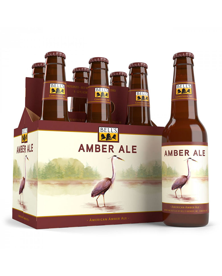 Image of Bell's Amber Ale 6 pack Illustration by Kate Spiess