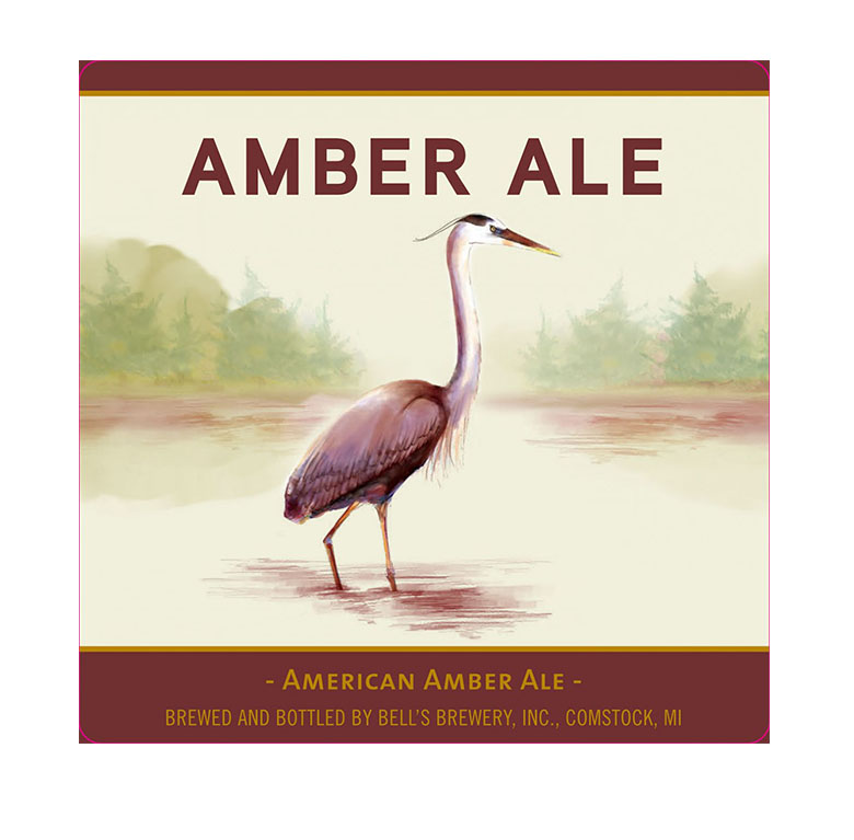 Image of current Bell's Amber Ale Illustration by Kate Spiess