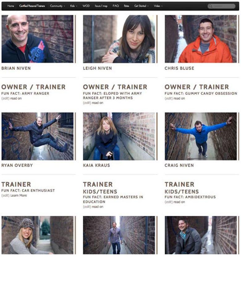 image of CrossFit brand reboot webpagee