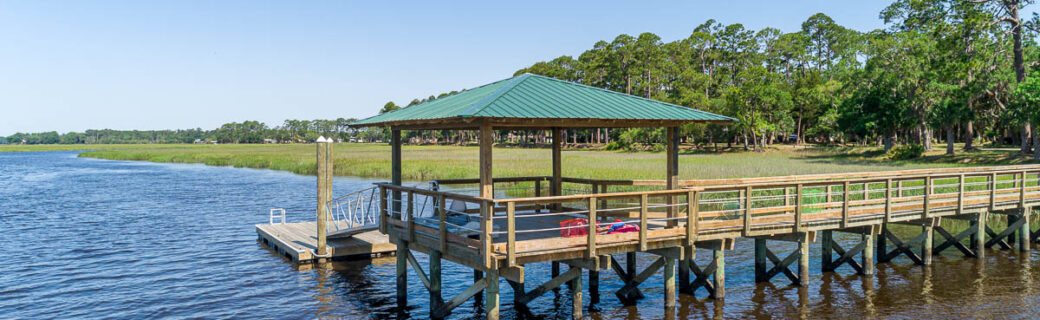 Deluxe Rope Railing and Metal Roof Dock