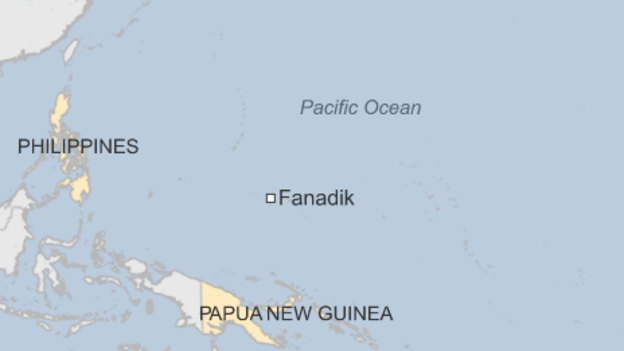 L'isola di Fanadik in Micronesia