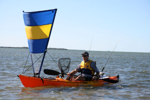 Vela triangolare per kayak e canoe pacific action