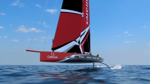 he 36th America's Cup class boat concept of the AC75.