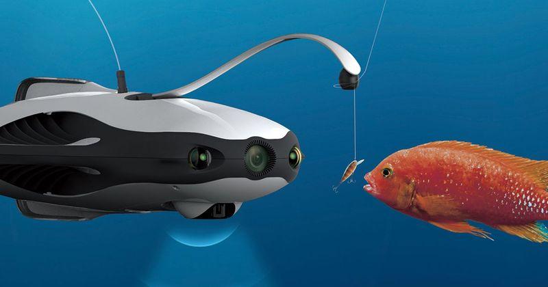 pescare con drone