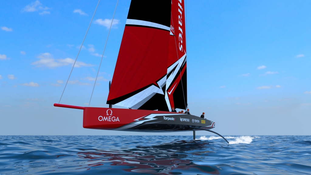 Team New Zealand boat for the next America's Cup