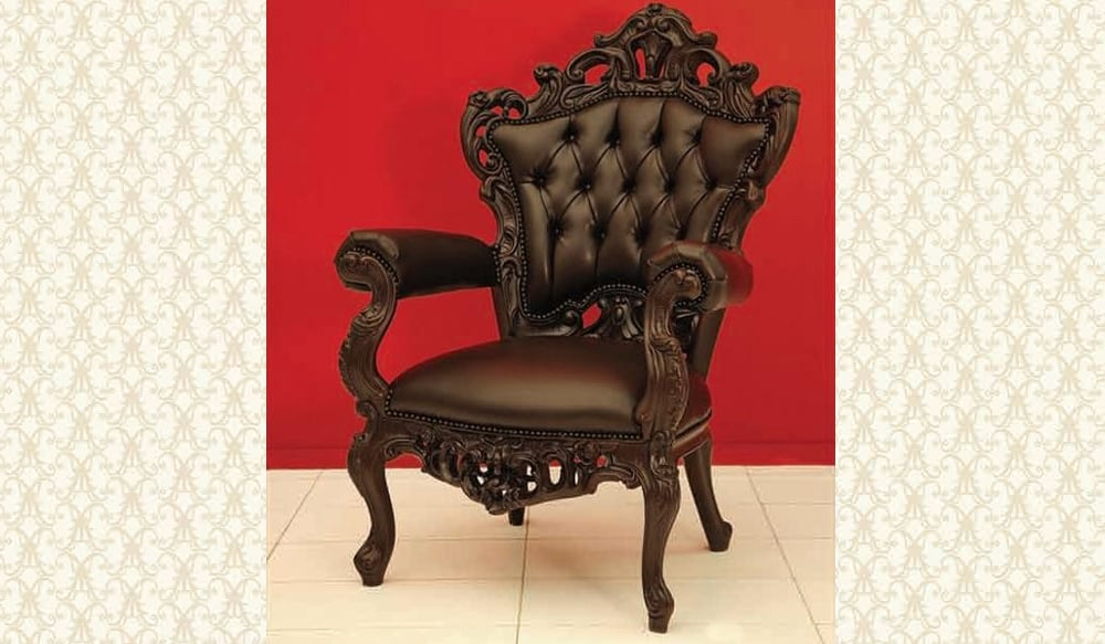 Victorian Arm Chair Bonded Leather 611