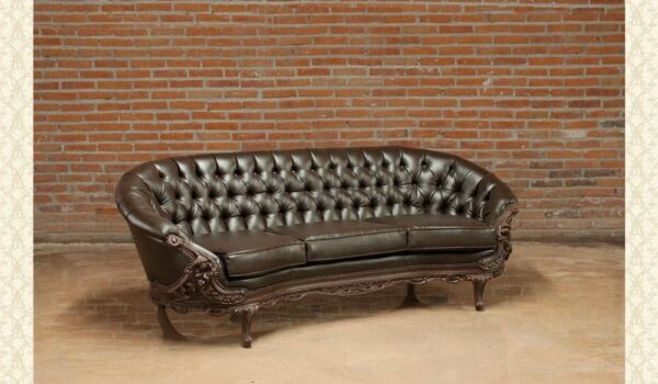 Victorian Living Room Bonded Leather 4644-A