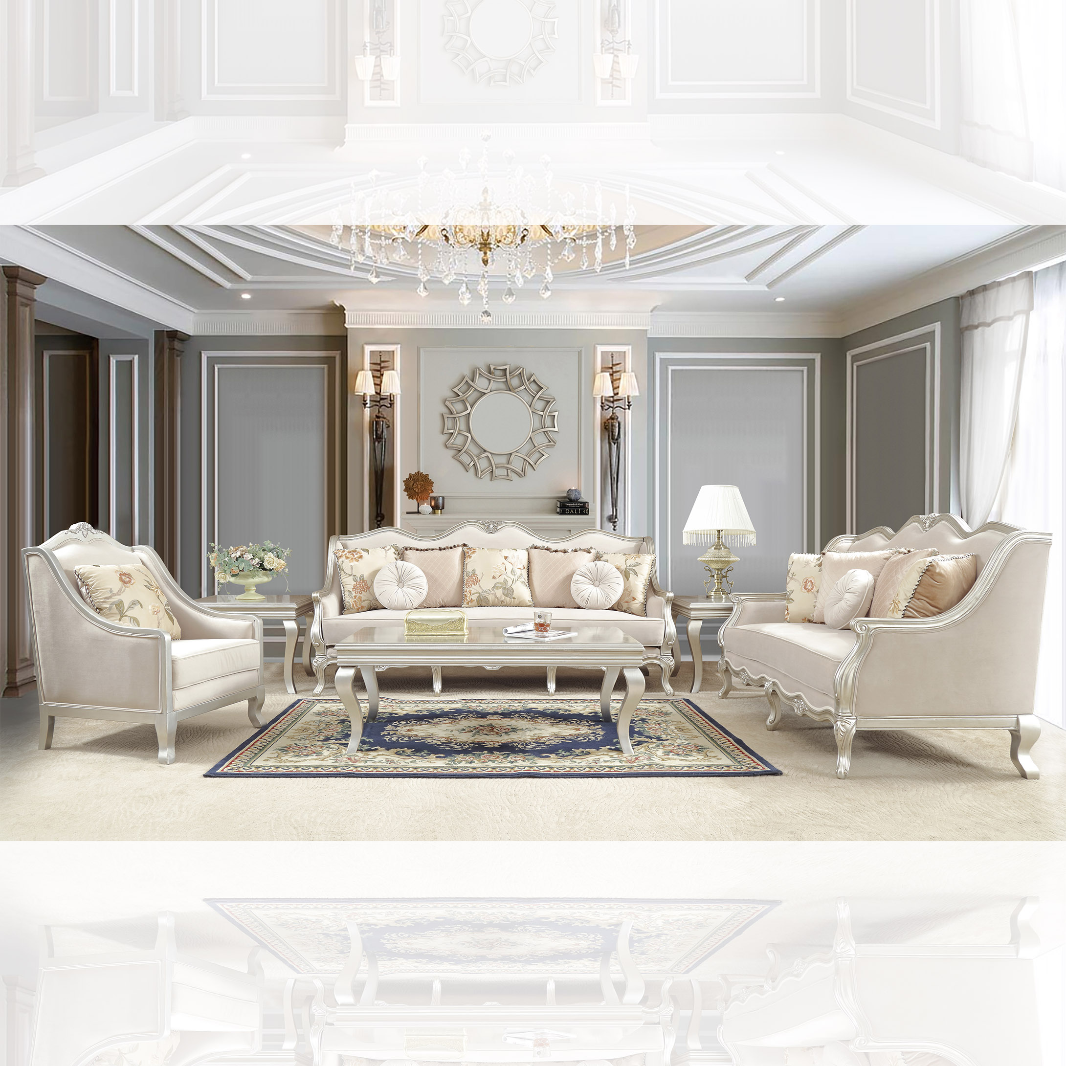 French Provincial Living Room # 2057