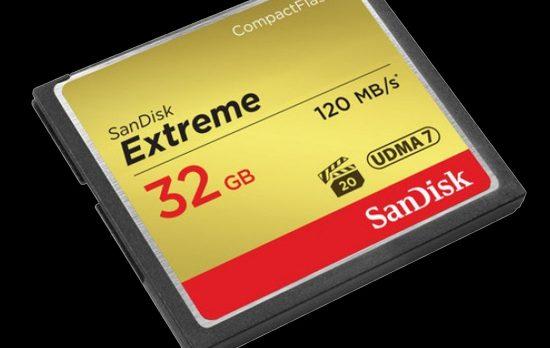SANDISK 32GB EXTREME CFMEMORY CARD
