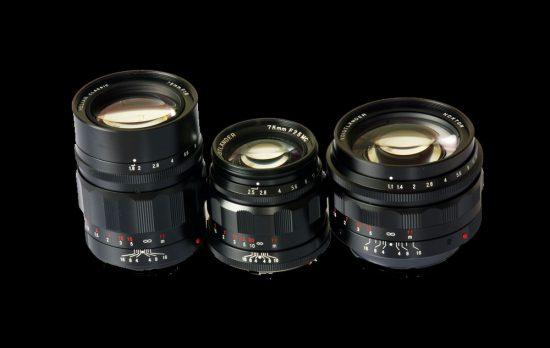 Voigtlander Nokton MFT 3 Lens Set (17mm, 25mm, 42.5mm)