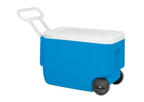 Hielera 38qts Con Ruedas Color Azul 45004