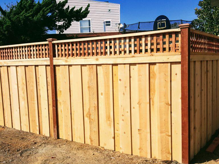 wood fence horizontal boards