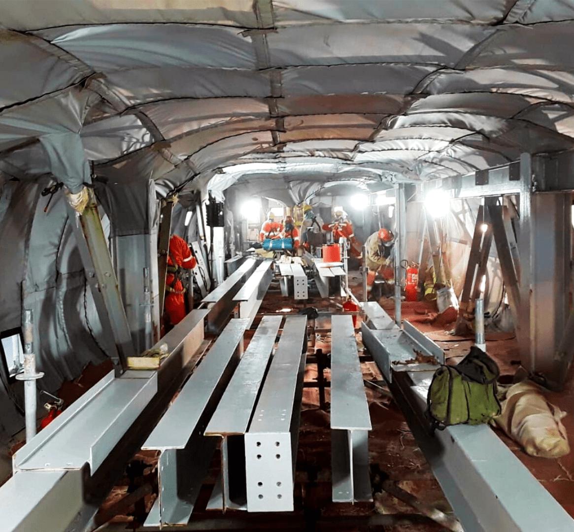 Crew Inside Brazil FPSO Habitat