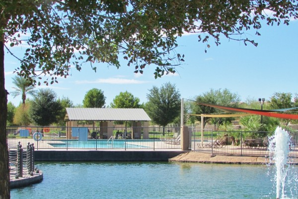 The Villages Pool off Lake