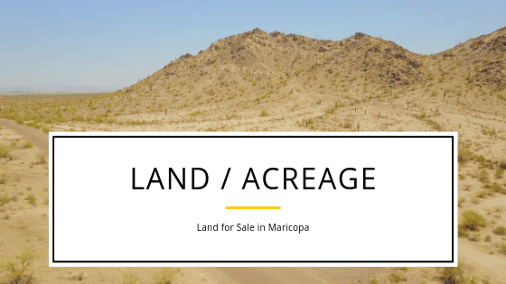 Mountain Views! Amazing Blue Sky! Horse Property! Lots of Space & NO HOA! If this is your dream, then you need to check out the land for sale in Maricopa!  From Hwy 238 all the way down to the I-8, Maricopa has thousands of acreage and beautiful views