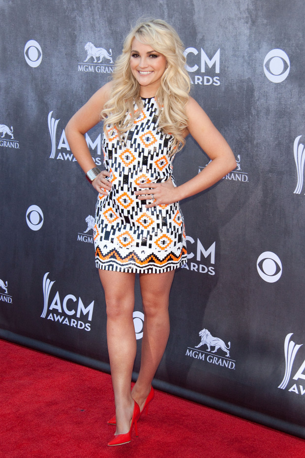 Jamie Lynn Spears and Jamie Watson at the the 49th ACM Awards in Las Vegas