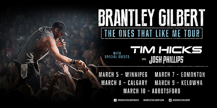 Brantley Gilbert The Ones That Like Me Tour