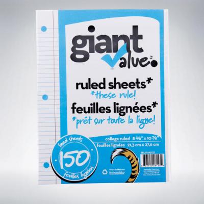150 Sheet Refill Lined Paper
