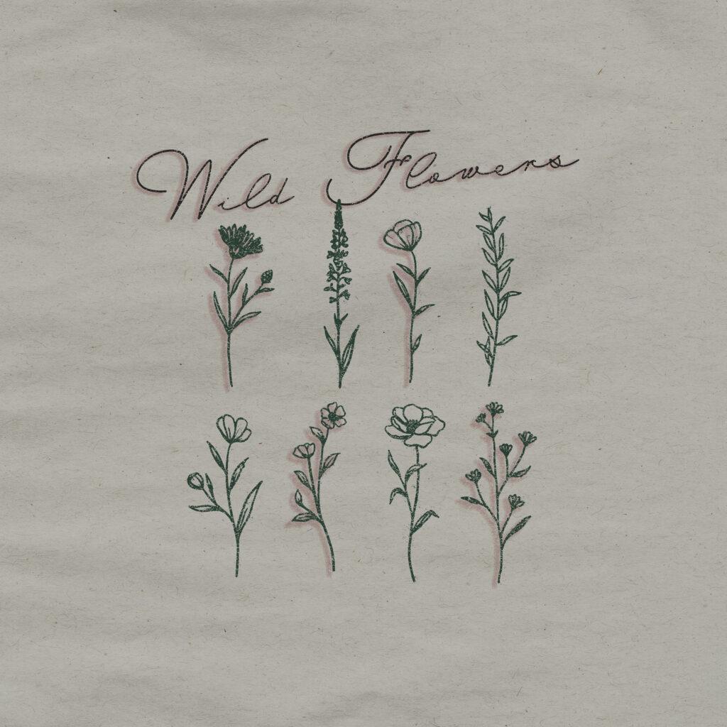 Andrew Hyatt EP artwork for Wild Flowers