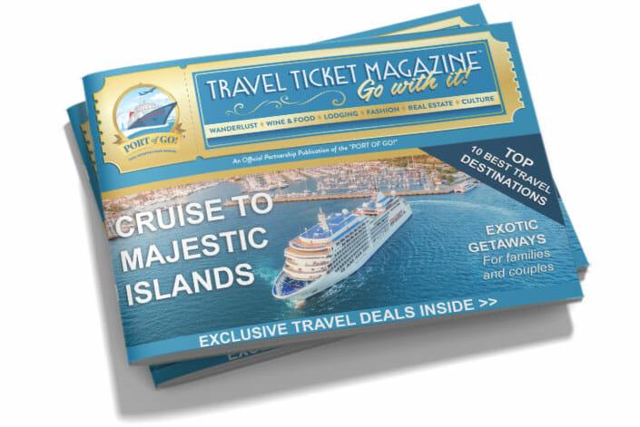 Port of Go! Travel Ticket Magazine Mockup