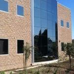 big windows in building