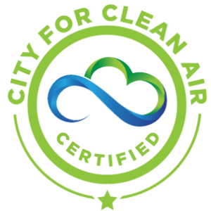 circle logo for city for clean air