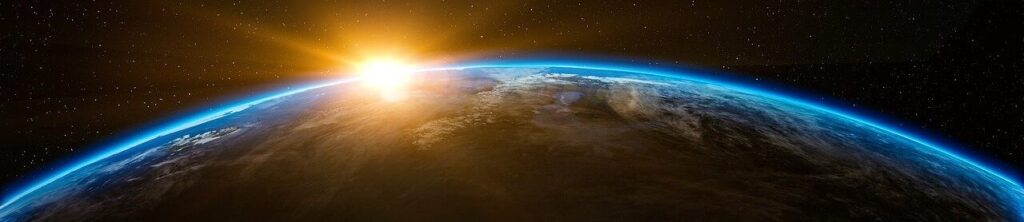 sunrise, space, outer space