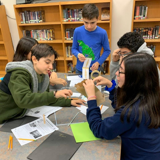 Space Club students during afterschool programming at Kingsborough Middle in San Antonio, Texas