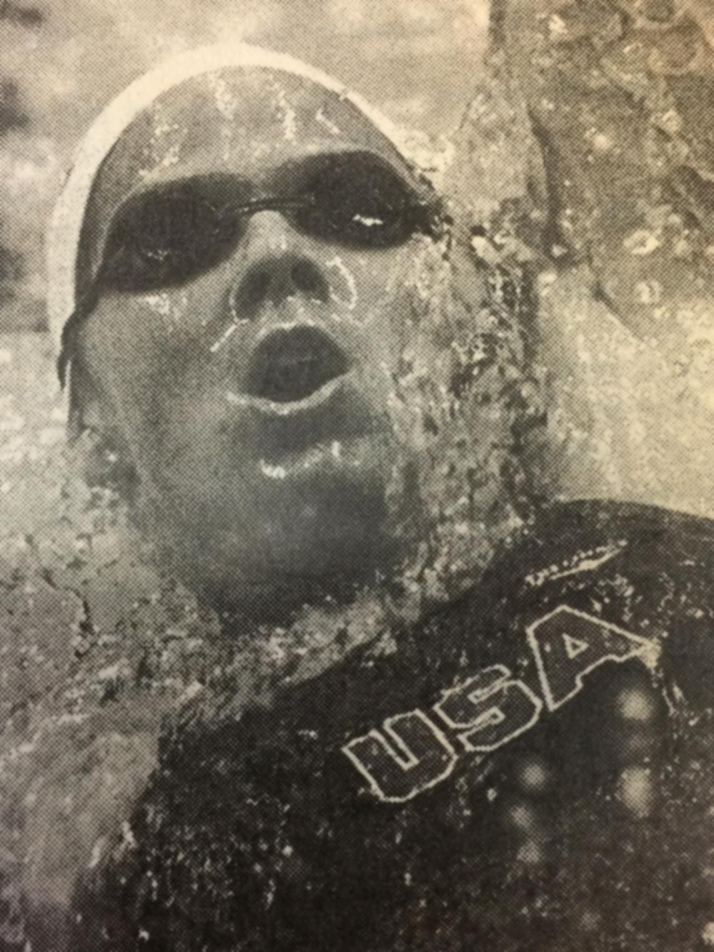 The international swim meet at the 1985 U.S. Open, in Austin, TX.