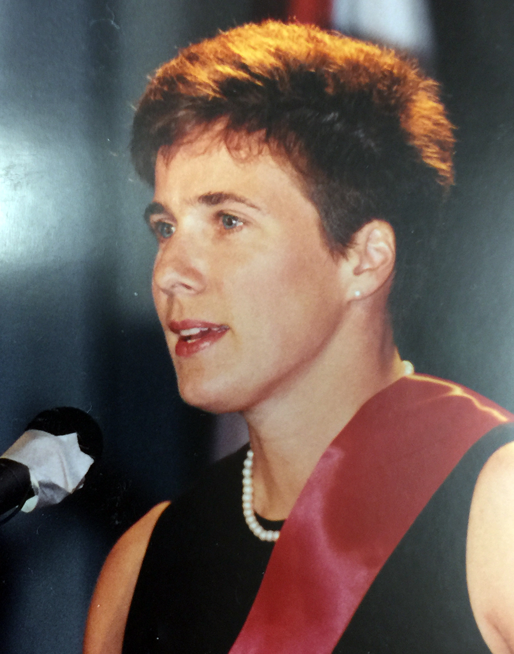 Betsy's induction, in 1992, into the International Swimming Hall of Fame, in Ft. Lauderdale, FL.