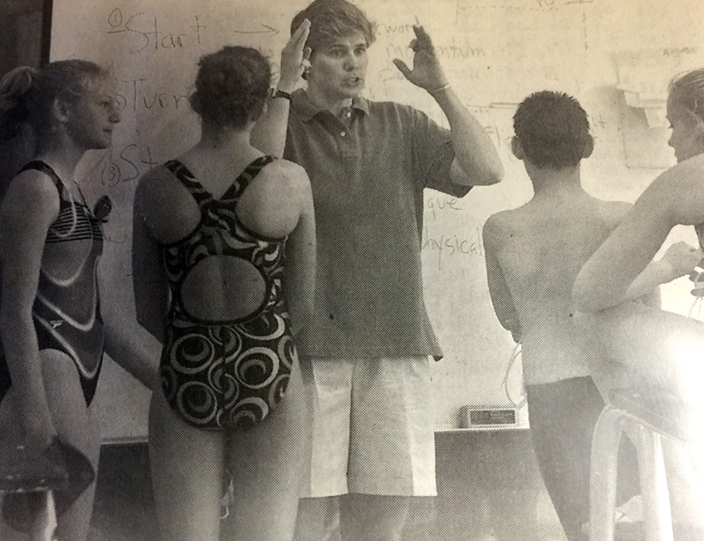 Betsy returned to the Marietta, Ohio YMCA in 2004 to lead a clinic for the Marietta Marlins swim team.