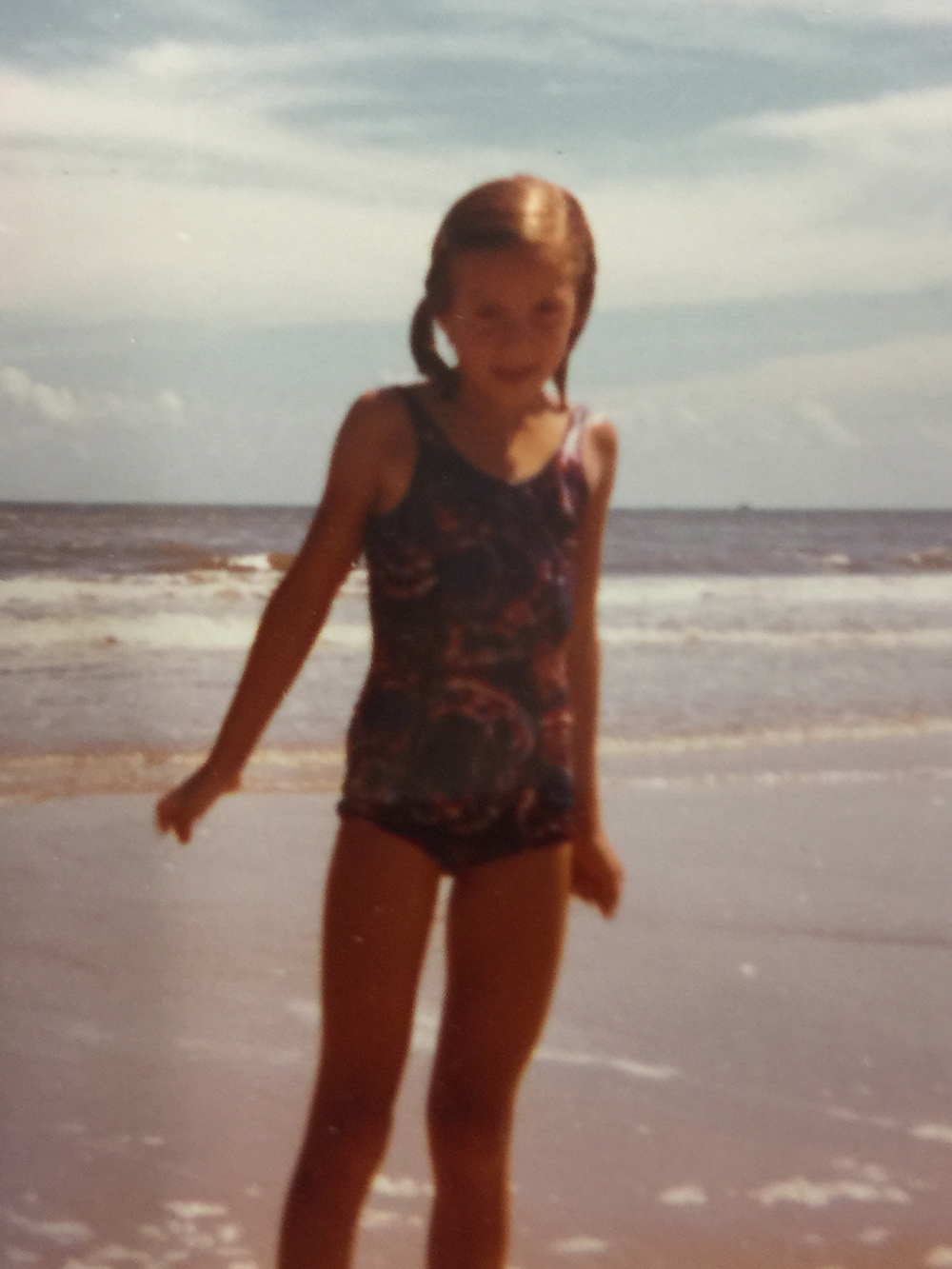 Betsy, age 8, on the beach in Ft. Lauderdale, Florida.