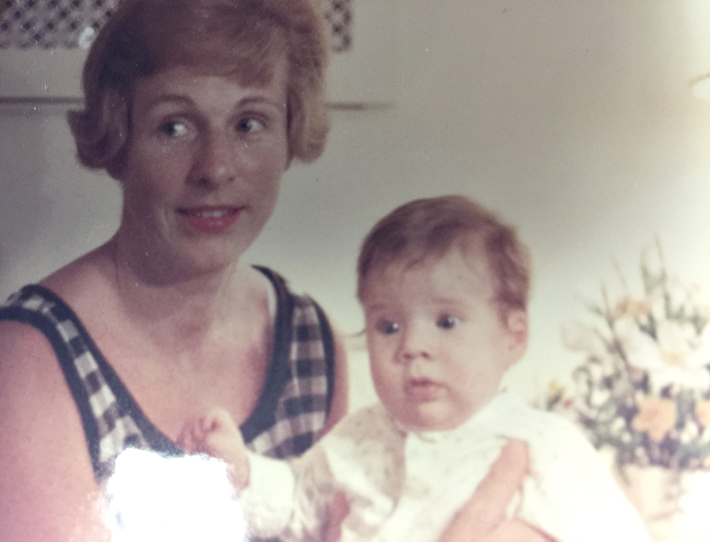 Betsy, age 1, with her mother.