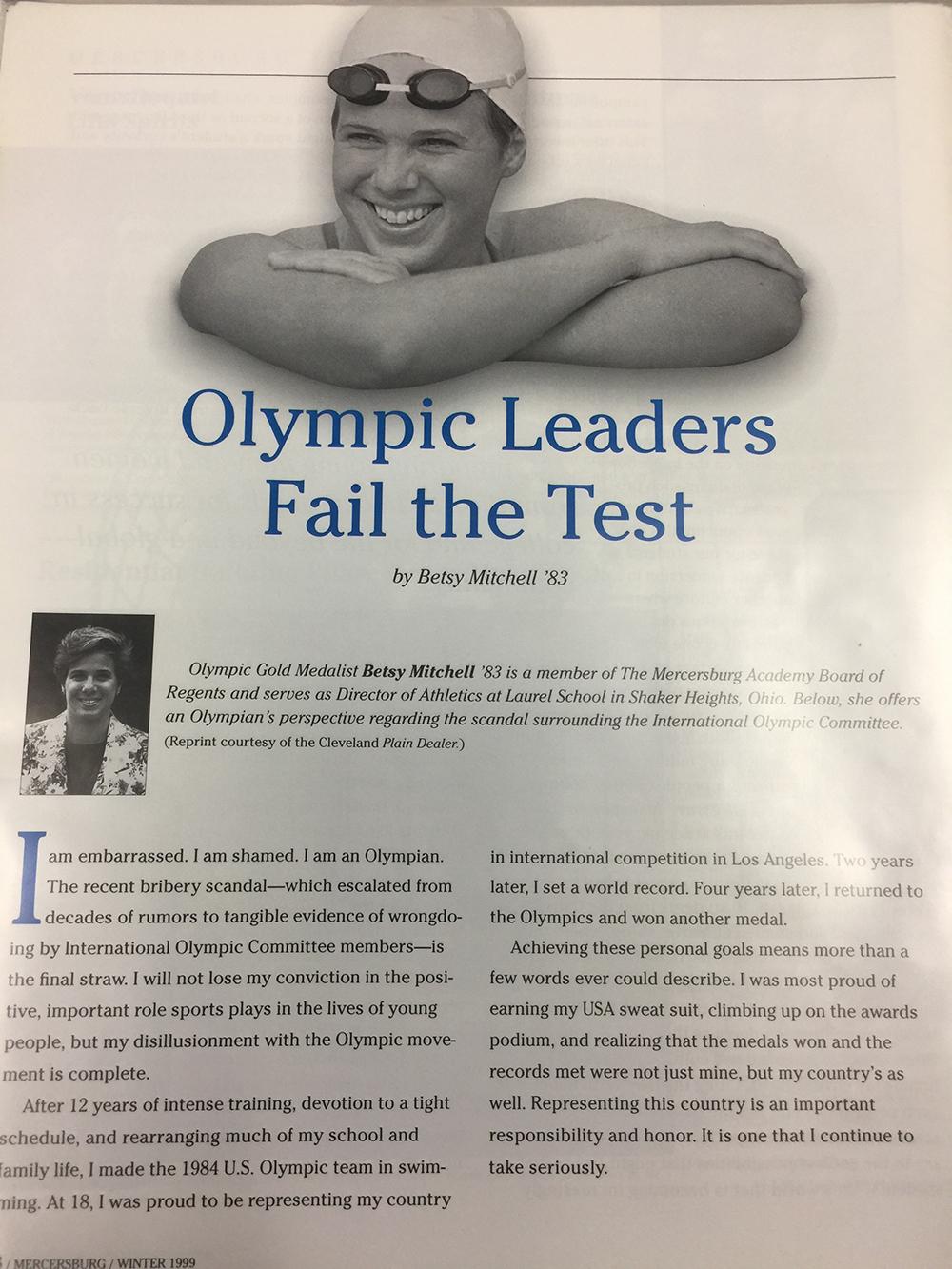 Mercersburg Academy publication (1989).