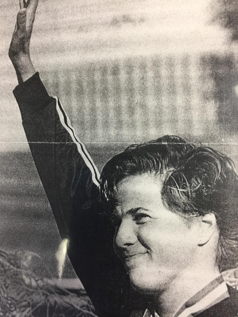 1986 World Aquatics Championship, in Madrid, Spain.