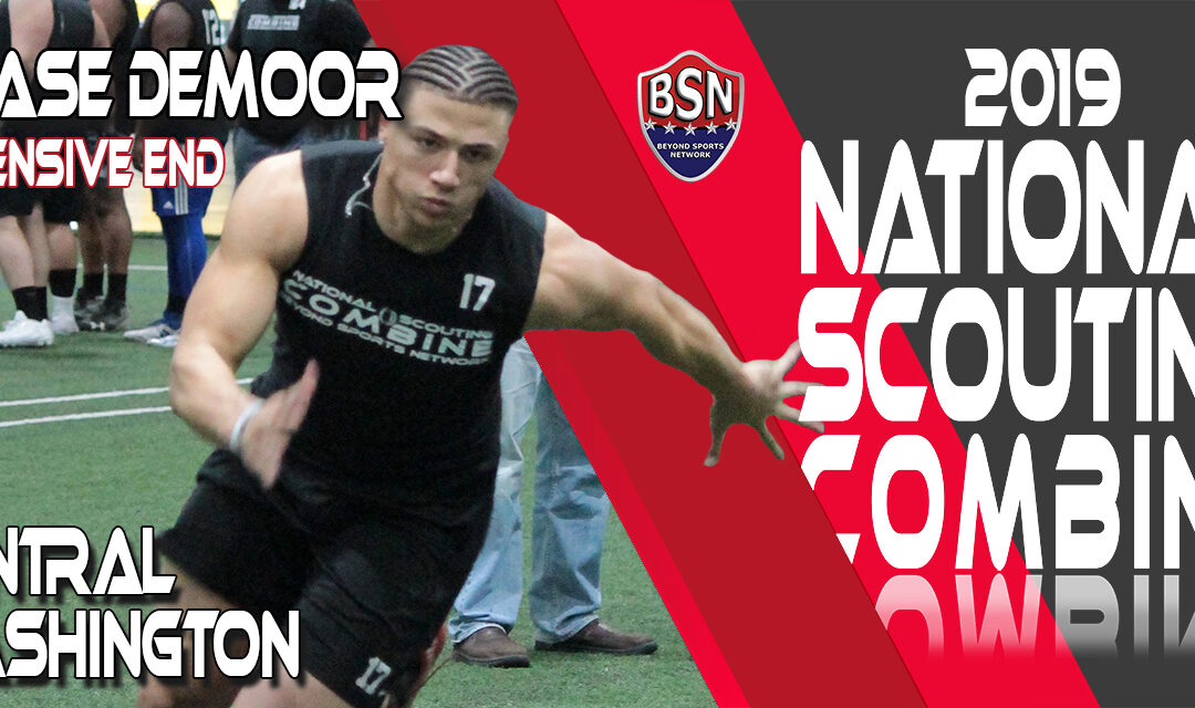 2019 National Scouting Combine prospect Chase DeMoor, DL from Central Washington